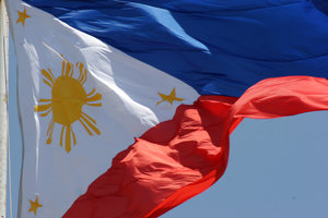 Philippine flag: No description