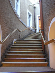Stairs with banister