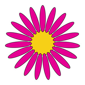 geometric flower 6: vector flower