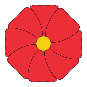 geometric flower 12: vector flower