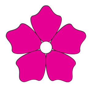 geometric flower 21: vector flower
