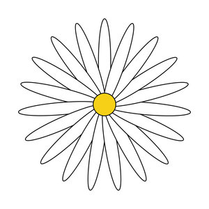 geometric flower 2: vector flower