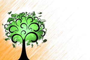 Fantasy Tree 2: Fantasy tree on a colored or gray background