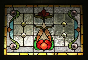 door glass 3: stained glass windows in door