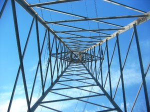 High voltage electic tower 4: High voltage electric tower placed in Ben's mount in the city of Coruña. Spain.