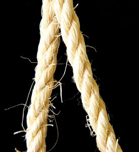 Rope 1: Strands of rope.