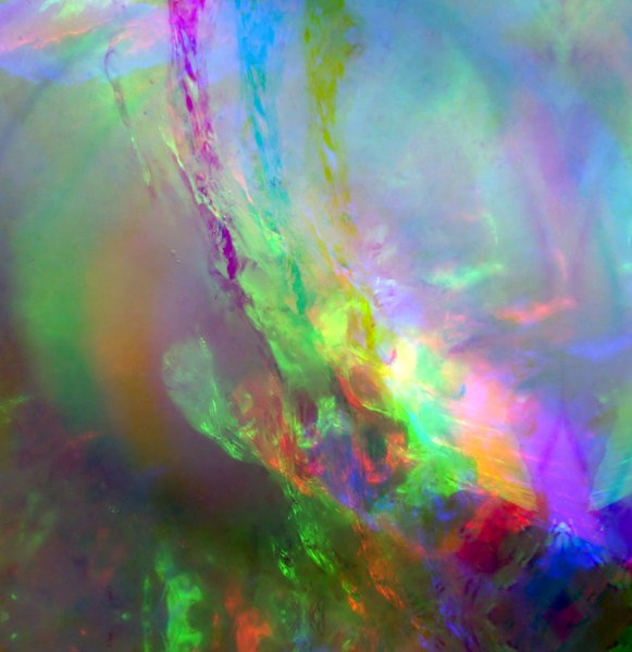 Ice Colours: Opalescent colours in ice.