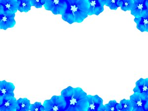 Floral Border 7: Floral border on blank page. Lots of copyspace.