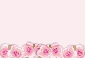 Floral Border  18: Floral border on blank page. Lots of copyspace.