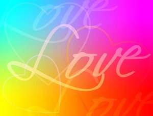 Love: Graphic of the word