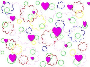 Cute Valentine Background: Background graphic suitable for a valentine. Purple hearts, and simple shapes. You may prefer:  http://www.rgbstock.com/photo/mEtJlKm/Valentine+Background+3  or: http://www.rgbstock.com/photo/mQb7kDi/Lots+of+Hearts+5