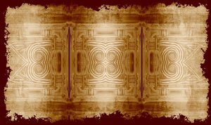 Sepia Parchment Pattern: Grunge background texture with ancient pattern. Could be paper or a fragment of a larger piece. Sepia colours.