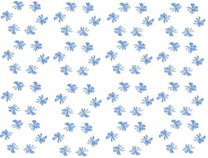 Spring Flowers Background 4: Spring flowers in an old fashioned pattern on a plain background.