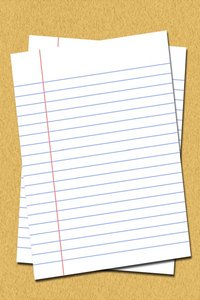 Lined Paper: Lined paper illustration