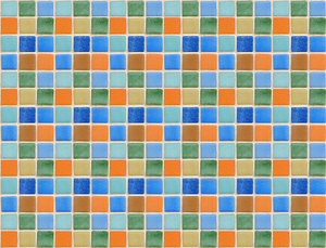 Colour tiles 4: Multicolour ceramic tiles texture. Playa de Gandia, Valencia