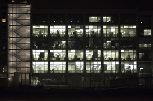 TGen building at night