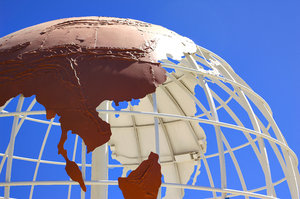 Globe - Asia: Globe near Seal Beach, California.
