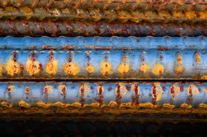 Steel Rebar: Some rebar found at a steel fabrication plant.