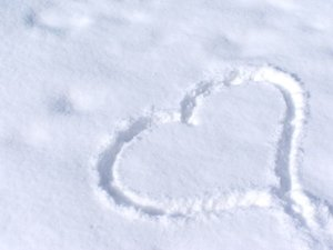 Cold love: A cold heart, a hot love.