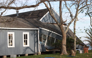 Broken House: Storm damage on Texas Gulf Coast from Hurricane  Ike.