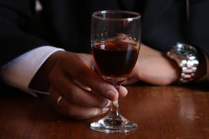 cheers to you: a glass with wine, cheers to the health