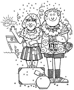 Travel: Cartoons on Holiday!Please visit my stockxpert gallery:http://www.stockxpert.com ..