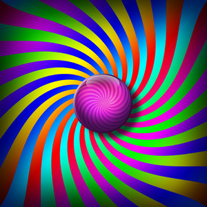Psychedelic: Psychedelic colours with purple ball.Please visit my stockxpert gallery:http://www.stockxpert.com ..