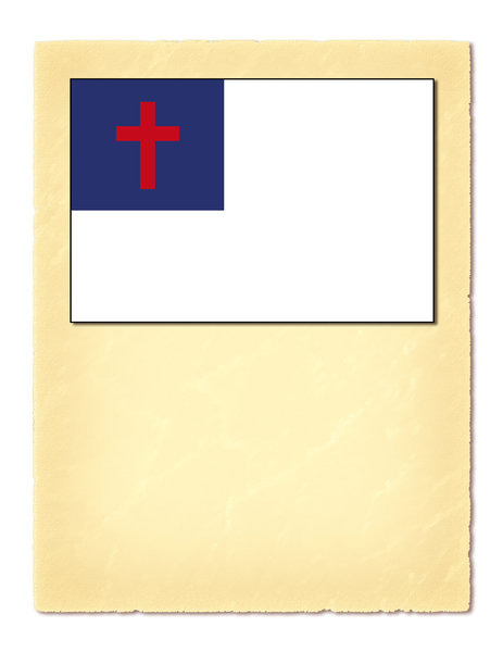 Christian Flag 2: This is The Christian Flag; a simple yet very powerful graphic. One version of just the flag and one on a paper background with copy space, possibly for the Christian Pledge.http://www.dailyaudiobibl ..Please visit my stockxpert gallery:http://www.stockxp