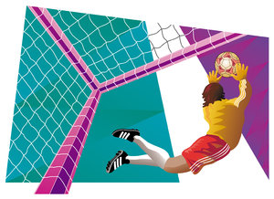 Soccer 2: Computer generated illustration of a soccer player.Please visit my stockxpert gallery:http://www.stockxpert.com ..