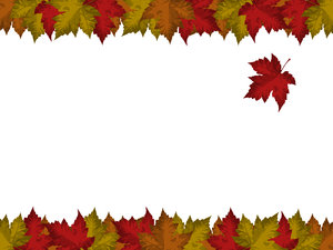 Falling Leaf Card 2: Card with falling maple leaf motif.  Lots of copyspace.