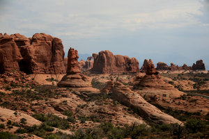 Old West 3: Landscape of Arches national park (Utah)