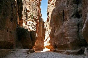 Siq 3: Different prospective of Siq in Petra (Jordan)