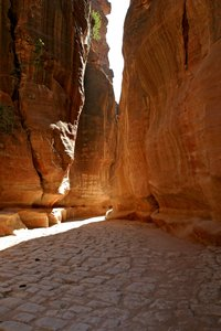 Siq 5: Different prospective of Siq in Petra (Jordan)