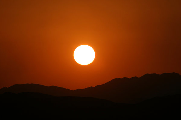 sunset in the desert 2