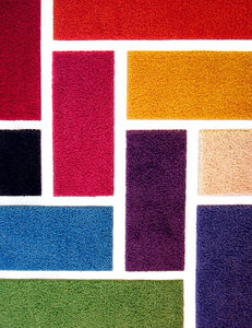 Mondriaan fabric samples: Fabric samples that reminded me of Mondriaan - one of my old sxc files.