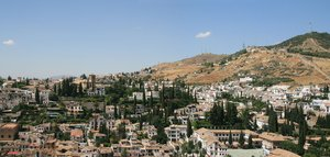 Albayzin, Granada, Spain: View of the rooftops of the town