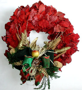 Christmas wreath: The Christmas wreath of our home door.