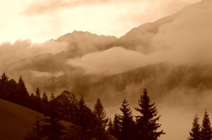 Misty mountain valley 3