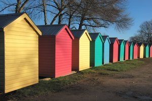 Beach huts: No description