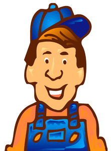 Worker: A cartoon man working.Please visit my stockxpert gallery:http://www.stockxpert.com ..