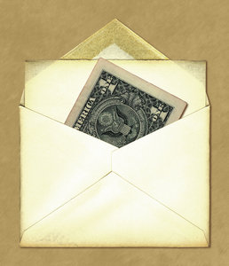 Send Money: An envelope with a dollar bill.Please visit my stockxpert gallery:http://www.stockxpert.com ..