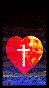 Heart Paint: Heart with cross.http://www.dailyaudiobibl ..Please visit my stockxpert gallery:http://www.stockxpert.com ..