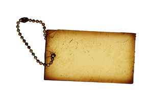 Vintage Tag 2: A grunge tag.For a larger version, please visit:http://www.stockxpert.com ..