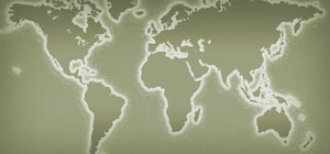 World Map: A vintage world map.For a larger version of this image, please visit:http://www.stockxpert.com ..