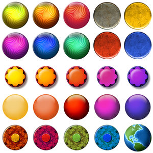 Web Buttons: A set of 25 colorful web buttons.Please visit my stockxpert gallery:http://www.stockxpert.com ..