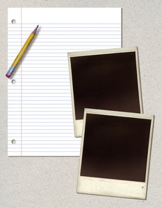 Template 1: Variations on a vintage notebook paper collage with old photo frames.Please go here for a larger size:http://www.stockxpert.com ..