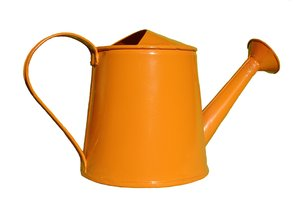 Watering can: Energetic orange watering can