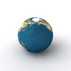 Earth: A cloudless picture of earth from different angles on a smooth white background