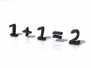 Basic math? 1: An abstract picture of the most basic math add problem. Is it? Sometimes adding 1 by 1 can result in 3 :)