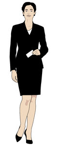 Business Woman: Vector Art